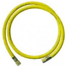"""gaz şarj hortumu set 150 cm 3/8"""" (60"""") sarı"""